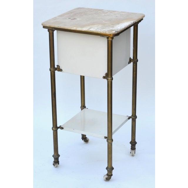 Antique Medical Cabinet Rolling Cart For Sale - Image 9 of 10