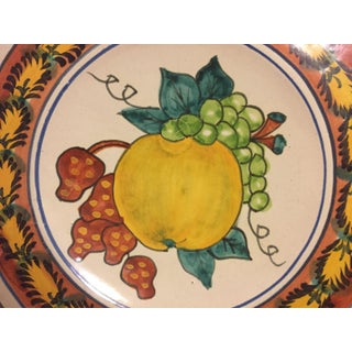 Italian Majolica Terra Cotta Wall Plate With Fruit Painting Preview