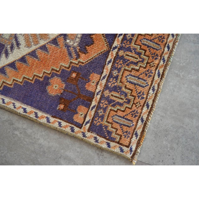 Hand Knotted Door Mat, Entryway Rug, Bath Mat, Kitchen Decor, Small Rug, Oushak Rug For Sale - Image 4 of 5