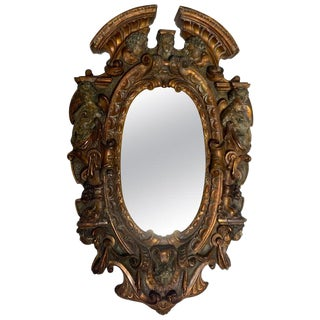 17th-18th Century Mixed Metal Italian Renaissance Mirror, Made in Tuscan Italy For Sale