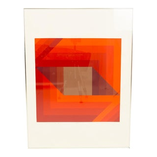 Vintage Mid-Century Vaccarino Community III Abstract Lithograph Print For Sale