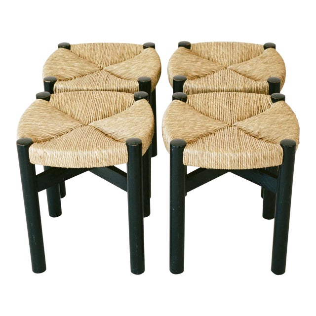 Charlotte Perriand Set of Four Stools C. 1948 For Sale
