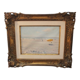 """20th Century """"Trouville (France)"""" Framed Landscape Painting by Jacques Lebourgeois For Sale"""