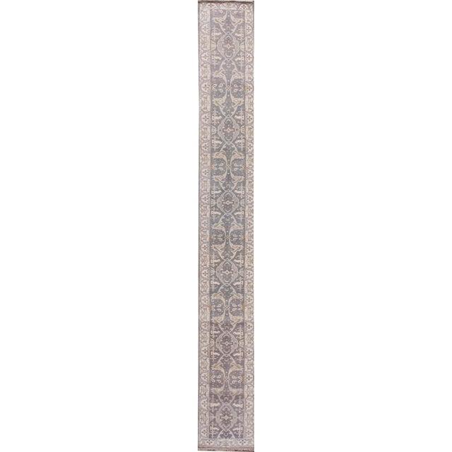 """Gray Apadana - 21st Century Oushak Style Rug, 2'5"""" x 19'9"""" For Sale - Image 8 of 8"""