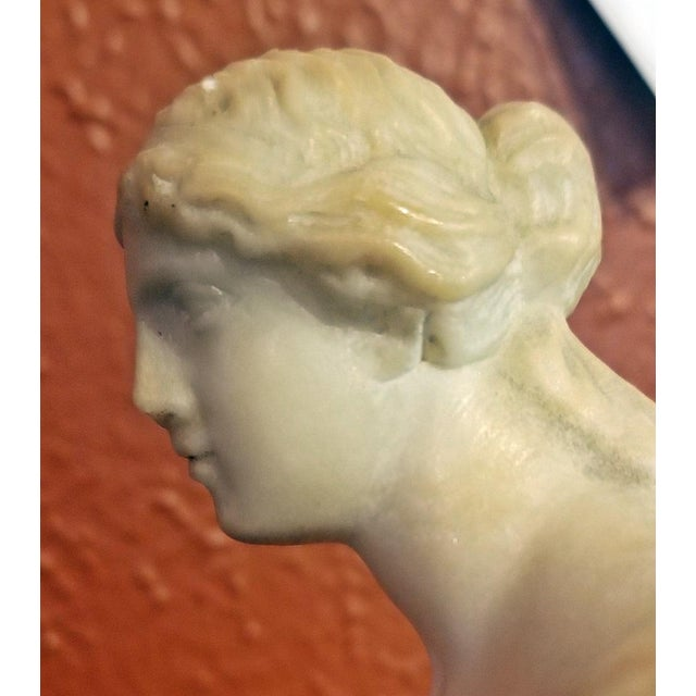White 19c Italian Marble Figurine of Venus De Milo For Sale - Image 8 of 12