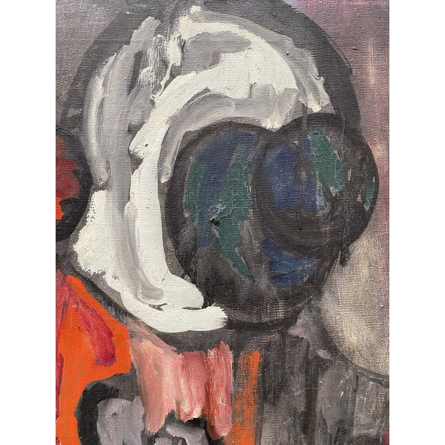 Abstract 1960s Abstract Figurative Oil Painting For Sale - Image 3 of 7
