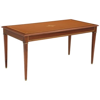 Louis XVI French Neoclassical Mahogany Desk For Sale