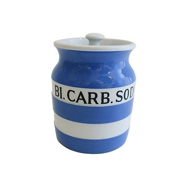 Vintage English Cornishware Baking Soda Canister - Image 1 of 3