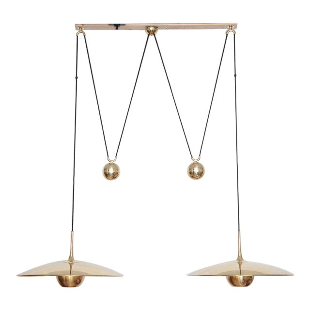 Florian Schulz Double Onos 55 Pendant Lamp with Side Counter Weights For Sale