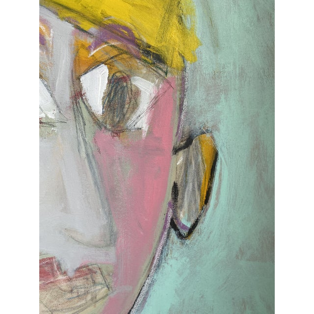 """2020s """"Wally"""" Contemporary Abstract Figure Acrylic Painting by Sarah Trundle For Sale - Image 5 of 6"""