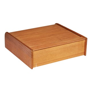 1970s Large Teak Tambour Box