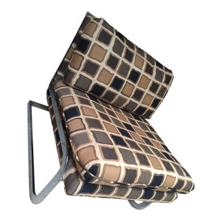 1970s Vintage Chrome Cantilever Slipper Chair For Sale