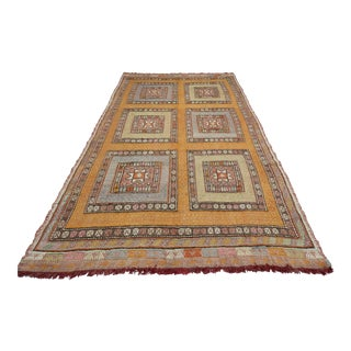 Anatolia Kilim Turkish Embroidery Rug- 6′ × 10′8″ For Sale
