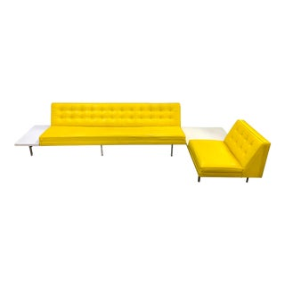 Mid Century George Nelson Herman Miller Sectional Sofa With Tables For Sale