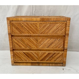 Vintage Pencil Reed Rattan Chest Preview