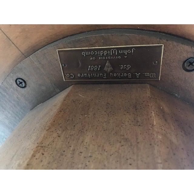 Metal 1950s Hollywood Regency John Widdicomb Fruitwood Pedestal Coffee Table For Sale - Image 7 of 11