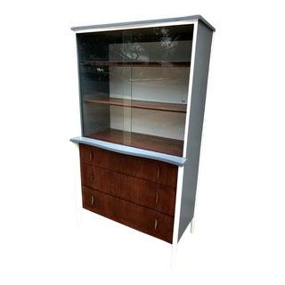 Lexington Mid-Century Modern Gray Hutch For Sale