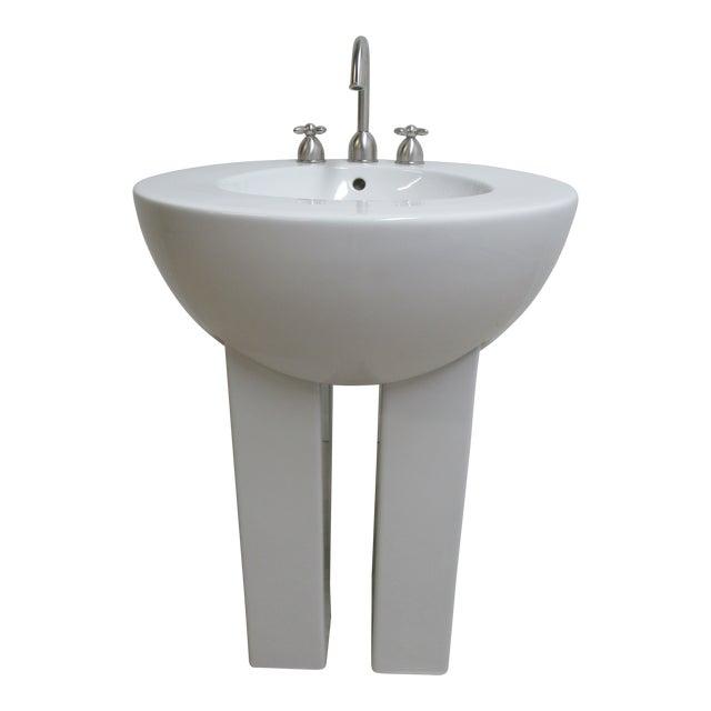 Michael Graves Design Duravit Dornbracht Dreamscape Pedestal Bathroom Sink For Sale