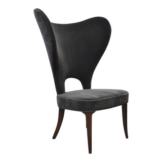"Edward Wormley ""Heart Chair"" Wingback for Dunbar For Sale"