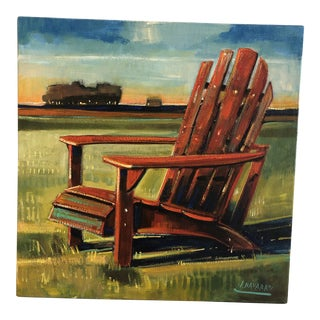 Adirondack Chair, Colorful Painting by James Navarro For Sale