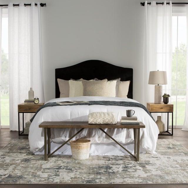 "Textile Jaipur Living Lynne Abstract White Gray Runner Rug 2'6""X8' For Sale - Image 7 of 12"