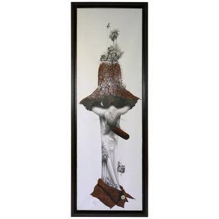 Organic Surrealist Collage by Cuban Artist Velasquez For Sale