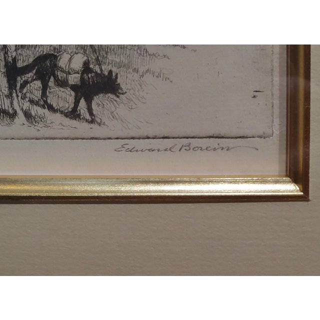 Edward Borein -Blackfoot Indian Moving Camp-1920s Original Etching For Sale In Los Angeles - Image 6 of 10