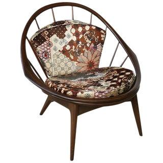 Ib Kofod-Larsen for Selig Danish Hoop Peacock Chair For Sale
