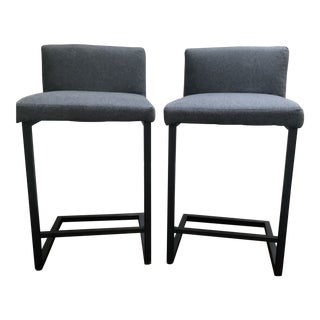 Room & Board Lira Counter Stools- A Pair For Sale
