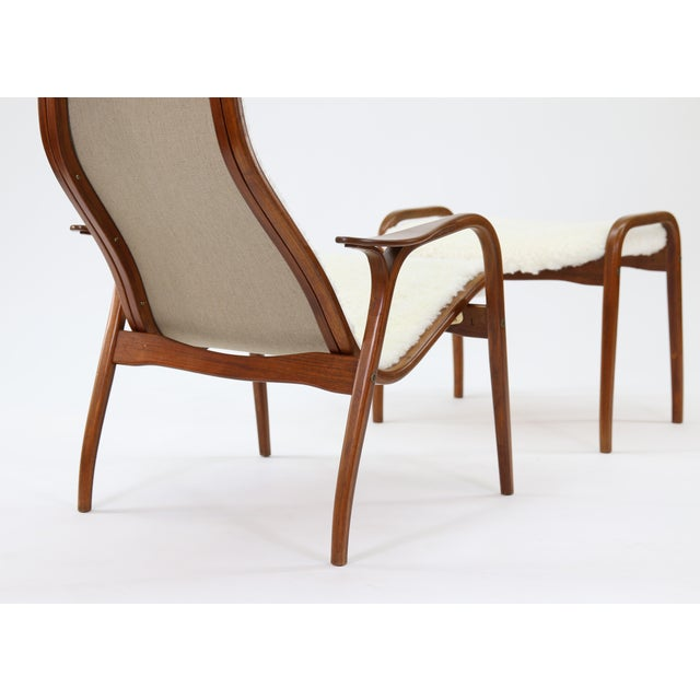 Vintage Yngve Ekstrom for Swedese Lamino Chair and Ottoman For Sale - Image 11 of 13
