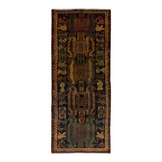 "Ardabil Vintage Persian Rug, 4'0"" x 9'9"""