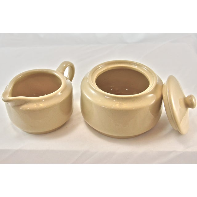 Mid 20th Century Bisque Cafe Ware Cream & Sugar For Sale - Image 5 of 6