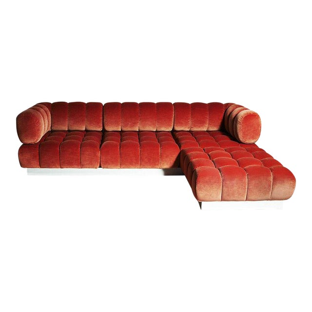 2015 USA Todd Merrill Custom Original The Extended Back Tufted Sectional For Sale