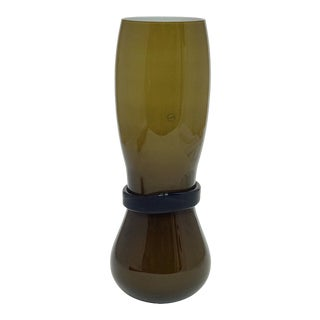 Simon Moore for Salviati, Large Fasciati Murano Glass Vase For Sale