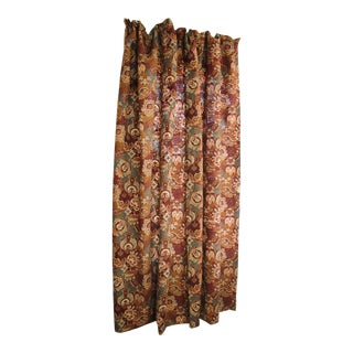 Antique French Belle Epoque Design Muted Tones Cotton Fabric Curtain For Sale