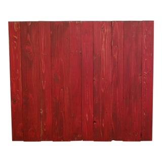 Red Weathered Look Twin Headboard Hanger Style