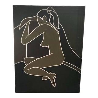 Vintage Modernist Female Nude Figure Study For Sale