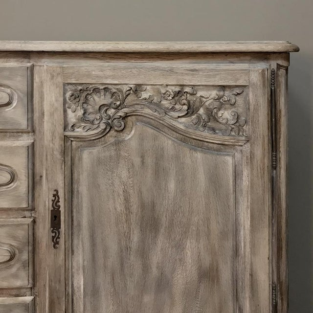 19th Century Country French Normandy Painted Buffet For Sale - Image 9 of 13