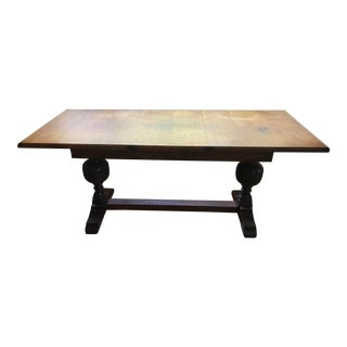 Antique Georgian English Refectory Console Table For Sale