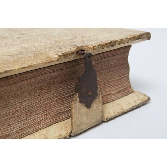 17th Century Antique Vellum Book With Music Score Pages With Iron Closures For Sale In Nashville - Image 6 of 11
