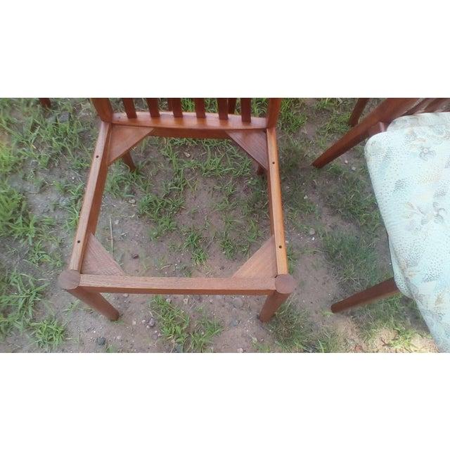 Dyrlund 1960s Danish Modern Dyrlund Teak Dining Chairs - Set of 6 For Sale - Image 4 of 6