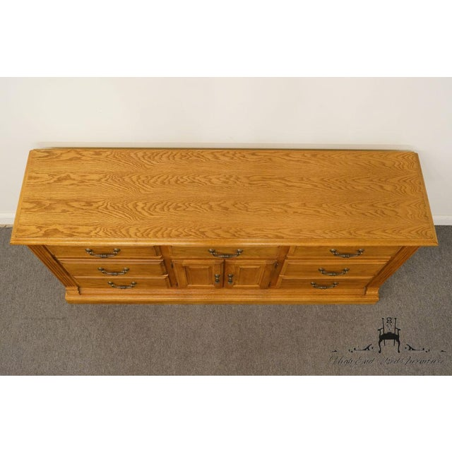 """American Drew Country French Oak 72"""" Triple Door Dresser For Sale - Image 4 of 13"""
