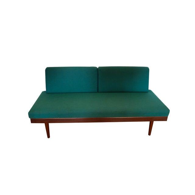 Norwegian Modern Teak Daybed Sofa Pull Out Tables Edvard Kindt Larsen for Gustav Bahus For Sale - Image 9 of 10