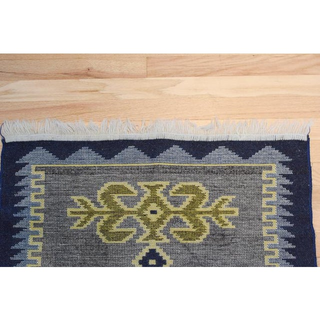 Boho Chic Handmade Vintage Kilim Rug - 4′4″ × 2′6″ For Sale - Image 3 of 13
