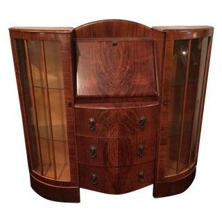 Art Deco Desk & Vitrine For Sale