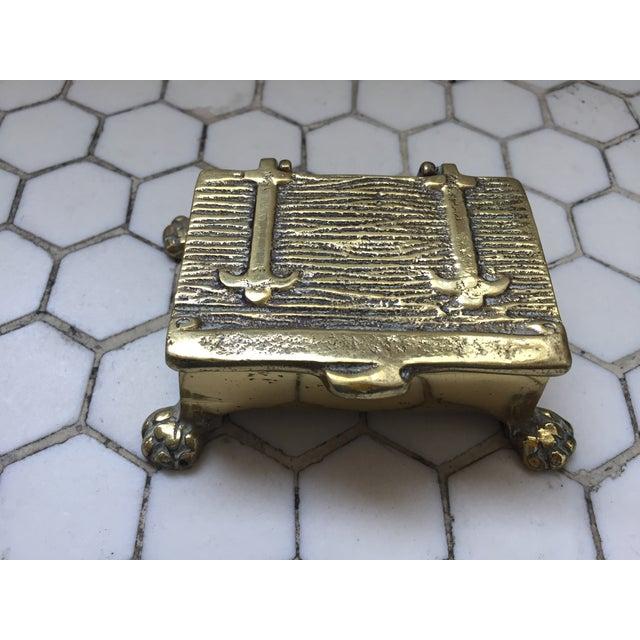 Mid-Century Brass Treasure Chest - Image 2 of 6