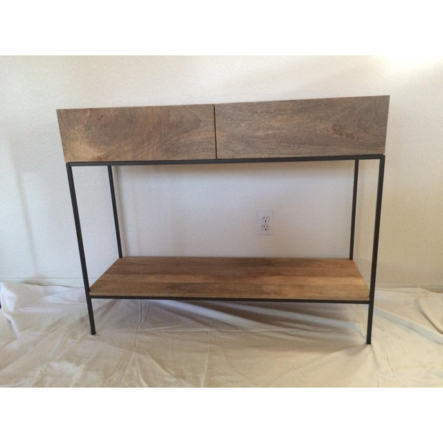 West Elm Rustic Storage Console - Image 2 of 5