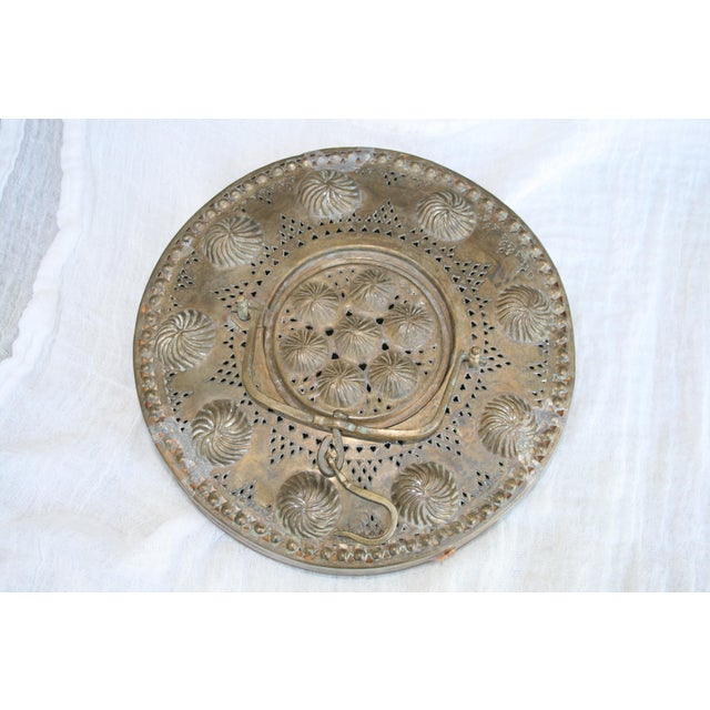 Antique Asian Brass and Fabric Lantern For Sale - Image 4 of 9