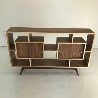 Handcrafted Walnut Bookcase With Bleached Trim Preview