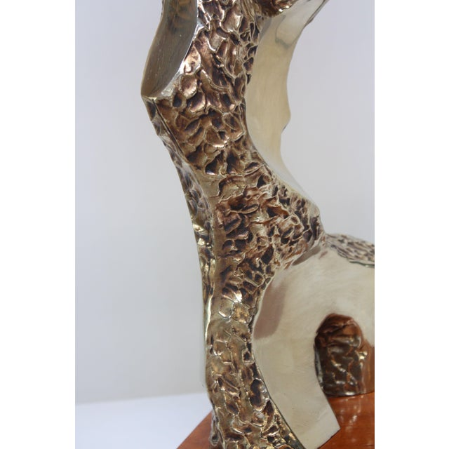 Sculptural Brutalist Brass Table Lamp by Maurizio Tempestini for Laurel For Sale - Image 12 of 13